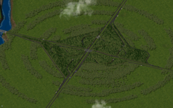 A large RHW interchange, made with Version 2.0, Shadow Assassin's Euro Textures and one-way-road overpasses and tunnels.