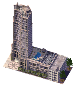 how to get hotel commercial in sim city