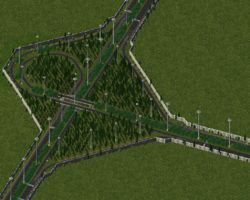 Trumpet interchange made with RHW 3.0.