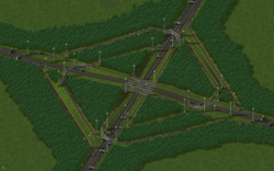 A large RHW interchange made with version 4.0 without tunnels.