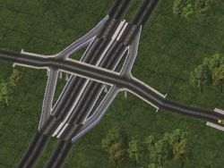 A avenue/road interchange, released as part of a pre-NAM transit mod.
